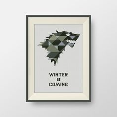 House Stark. Game of Thrones cross stitch pattern, PDF counted cross stitch pattern, P145 by NataliNeedlework on Etsy