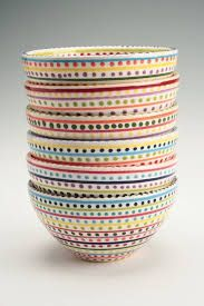 Image result for red and cream striped breakfast bowls