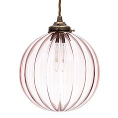 Fulbourn Dusky Pink Coloured Glass Pendant Lightin Antiqued Brass - All For Light İdeas Industrial Pendant Lights, Pendant Lighting, Foyer Lighting, Accent Lighting, Bedroom Lighting, Pink Pendants, Glass Pendants, Ceiling Rose, Ceiling Lights