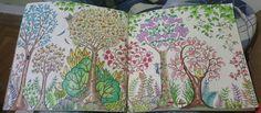Floresta encantada pica-pau /  floresta encantada / floresta encantada árvores / jardimsecreto  #johannabasford  #florestaencantadaarvores