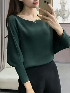 Loose Pure Color Knit T Shirt _T-Shirts_Tops_Wholesale Clothing_Wholesale clothing, Wholesale Clothes Online From China