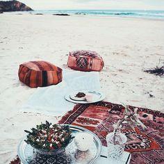Picnic at the beach on vacay
