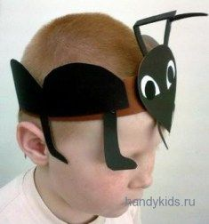 Mask of ant - Julia Home Ant Crafts, Insect Crafts, Diy Crafts Hacks, Kindergarten Crafts, Preschool Crafts, Ant Costume, Diy For Kids, Crafts For Kids, Spring Hats
