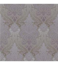 Aquitaine Purple Nouveau Damask  Wallpaper