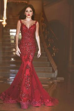 Vestido De Noiva Vintage Mermaid Prom Dresses V Neck Sleeveless With Sheer Back Lace Applique Sequined Long Sweep Train Formal Gown 2016 New