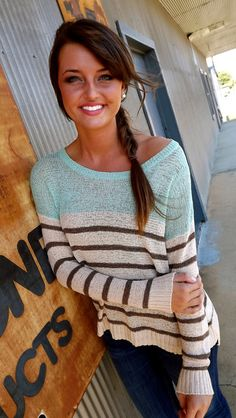 I'll Take My Chances Knit {Mint}  BACK IN STOCK
