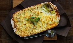 This golden potato-topped pie combines chicken with tarragon in a cheese sauce - a delightful medley of flavours for a hearty evening meal.