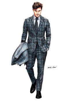 Pin by sefa merve on art fashion design sketches, fashion illustration sket Fashion Illustration Sketches, Illustration Mode, Fashion Sketchbook, Fashion Sketches, Fashion Design Illustrations, Croquis Fashion, Men Fashion Show, Mens Fashion Week, Mens Fashion Suits
