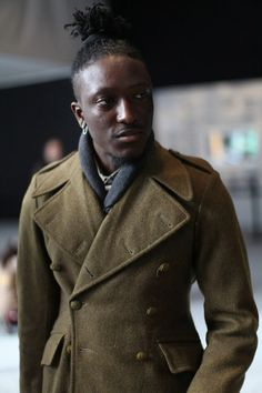 Love a man with great style.  Street Etiquette #NYFW #Men