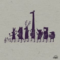 Musical animals illustration by Heng Swee Lim Art And Illustration, Illustration Mignonne, Gravure Illustration, Music Drawings, Illustrators, Art Projects, Character Design, Artsy, Artwork