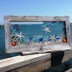24 x 12 ola perfecta de playa cristal acentuado con los pescados más finos arena y blanco de la estrella. Ve mejor nuevo lite