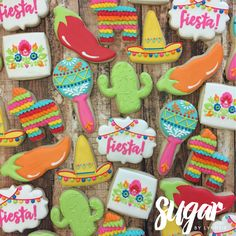 💃🏻 I will have 3 dozen extra of these cookies ready for pickup tomorrow or Saturday! (Friday pickup is unavailable) Please email… Fiesta Cake, Mexican Fiesta Party, Fiesta Theme Party, Taco Party, Fiesta Gender Reveal Party, Mexican Cookies, Mexican Desserts, Magnum Paleta, Mexican Birthday Parties