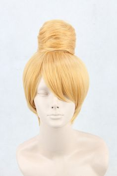 Disney Tinker Bell Short t Blonde Style Cosplay Wig+ chignon,Heat Resistan Synthetic fiber,classi halloween cosplay costume wig on Etsy, $28.00