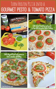 Turn Frozen Pizza into a Gourmet Pesto and Tomato Pizza!  Let me show you my 4 easy, quick, and most importantly, YUMMY ways to cook with frozen food and kick it up a notch!  Check out my PESTO  TOMATO PIZZA, GRILLED PARMESAN CORN ON THE COB, and my 1-SKILLET 20-MINUTE TURKEY CHILI for starters!  See the full recipes and details here: http://club.chicacircle.com/4-ways-to-take-frozen-food-and-kick-it-up-a-notch/  #ad