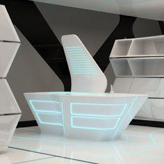 """#diseño de #cocinas Diseño de cocina inspirada en la pelicula """"Tron Legacy"""""""
