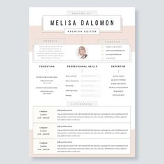Resume On Microsoft Word Creative And Professional Resume Template In Microsoft Wordcv