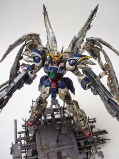 "1/100 HG Wing Gundam Zero ""Repair"" Custom Diorama - Gundam Kits Collection News and Reviews"