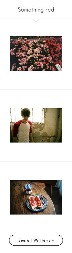 """""""Something red"""" by wave2395 ❤ liked on Polyvore featuring pictures, backgrounds, photos, red, flowers, filler, boys, people, guys and site models"""
