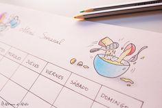 Planning menú semanal para descargar