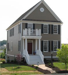 Best Exterior Paint, House Paint Exterior, Exterior Paint Colors, Exterior House Colors, Paint Colors For Home, Exterior Design, Exterior Siding, House Shutters, House Siding