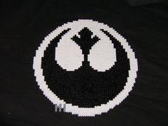 Star Wars Rebel Logo perler beads by IamthedaMned on deviantart
