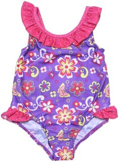 Pink Platinum Girls Infant Aztec Print Two Piece Swimsuit
