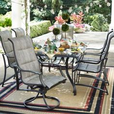 Hampton Bay Statesville 7 Piece Padded Sling Patio Dining Set FCS70357 ST
