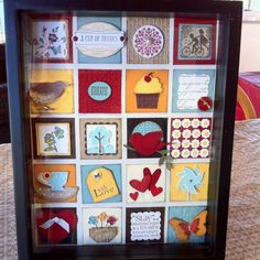 Framed Keepsake by Lisa Yamamoto. Made with Stampin' Up! paper, ink, stamps, punches, and accessories.