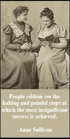 """Helen Keller and Edith Thomas """"We can do anything we want to if we stick to it long enough."""" Helen Keller (June 1880 – June - deaf blind author, political activist, and lecturer. Great Women, Amazing Women, Vintage Photographs, Vintage Photos, The Miracle Worker, Anne Sullivan, Portraits, Women In History, Couples"""