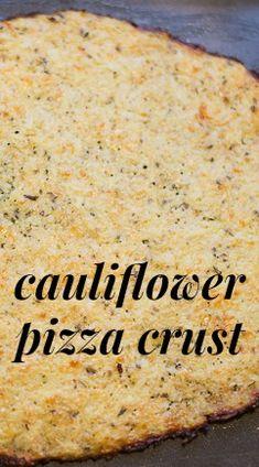 Pizza Crust Recipe: Delicious & Healthy Cauliflower Pizza Crust - Have you tried a cauliflower pizza crust recipe yet?Cauliflower Pizza Crust - Have you tried a cauliflower pizza crust recipe yet? Low Carb Recipes, Cooking Recipes, Healthy Recipes, Pizza Recipes, Easy Recipes, Comidas Light, Healthy Snacks, Healthy Eating, Healthy Pizza