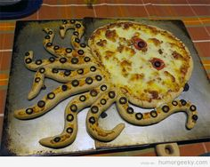 Pizza con forma de pulpo