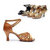 #2: Neue Damen Erwachsene Square-Dance im Ballsaal Tanzschuhe Salsa-Schuhe mit hohen Absätzen