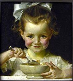 J.C. Leyendecker. Kellogg's Girl // I AM A CHILD (children in art history)
