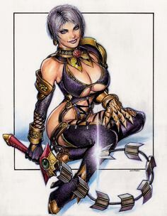 This Is Ivy Valentine, From The SoulCalibur Video Games. Video Game  Characters Are Fun To Dra.