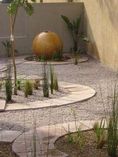 Use grasses inside the zen garden side?
