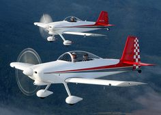 Randy Lervold, old and new. His old RV-3 new RV-8