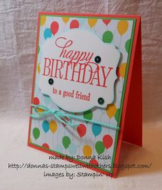 Happy Birthday, Everyone - my first card from the 2015-2016 Stampin' Up! Annual Catalog.  This is a hostess set and YOU can earn it!