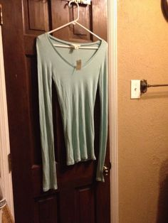 Abercrombie Fitch Women's Large Long Sleeved Shirt New with Tags Light Blue | eBay