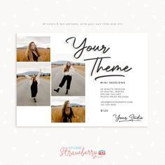 Get access to our entire template library – Strawberry Kit Photography Marketing, Photography Business, Note Card Template, Handwritten Text, Photography Mini Sessions, Print Release, Social Media Images, Color Profile, Photographic Studio
