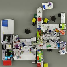 waaaat? | Lab photographed from a bird's-eye view by Menno Aden | Design