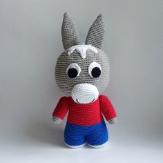 TROTRO Trotro PDF amigurumi crochet pattern This crochet pattern will instruct you on how to crochet a character of the animated film Trotro donkey
