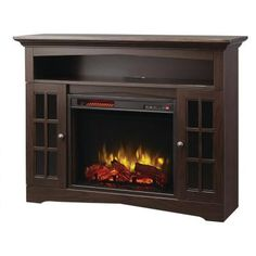 Home Decorators Collection Avondale Grove 48 in. Media Console Infrared Electric Fireplace in Espresso