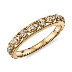 Heirloom Diamond Ring  in 14k Yellow Gold