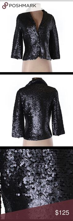 Lisli black sequin blazer LIsli black sequin blazer. 100% cotton. New without tags. No signs of wear or flaws. Ships within one week. Lisli Jackets & Coats Blazers