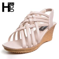 12.49$  Watch more here - HEE GRAND 2017 Hot Elegant Sandals For Woman Women's High Platforms Cut Outs Pattern Checkered Belt Gladiator Sandal XWZ275   #buyonline