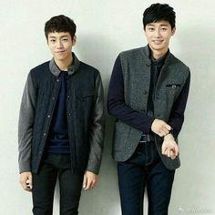 Bellos 💚 #LeeHyunWoo #ParkSeoJoon Lee Hyun Woo, Park Seo Joon, Ji Chang Wook, Lee Min Ho, Kdrama, Mens Tops, Asian, Nice, Create