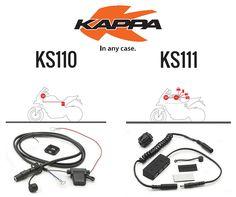 KAPPA | KS110 e KS111 || KS110 - KIT DE ALIMENTAÇÃO DE PDA e KS111 - CABO DE ALIMENTAÇÃO 130 CM  #lusomotos #kappa #cabosdealimentação