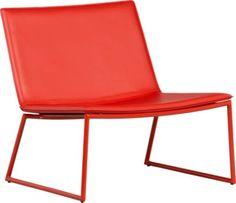 triumph red lounge chair | CB2