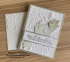 Forever Fern Wedding Card - Heartfelt Stamping Handmade Thank You Cards, Wedding Cards Handmade, Wedding Anniversary Cards, Wedding Wishes, Wedding Aniversary, Happy Anniversary, Fern Wedding, Craftwork Cards, Birthday Cards
