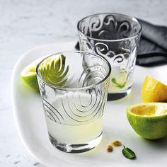 Verre à eau en verre motif spirale transparent ARCHES Bormioli Rocco